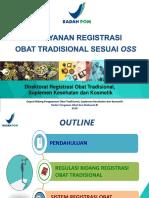 Pelayanan Registrasi OT Sesuai OSS-BPOM RI