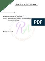 m3 Formula Sheet
