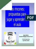 Organizacion Del Aula Por Rincones