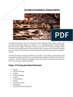 Wastewater Treatment for Tannery Industry