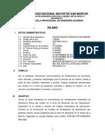 Sillabo de IO