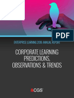 Enterprise Learning Annual Trends Report 2018 Corporate Learning, Predictions, Observations, Trends