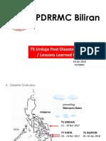 TS Urdaja Post Disaster Assessment Lessons_ Biliran_18Jan2018.pptx