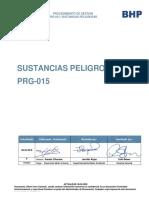 PRG-015 Sustancias Peligrosas