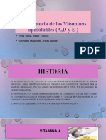 Importancia de Las Vitaminas Liposolubles (a,D y