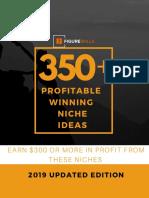 350 Niche Ideas