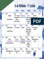 Calendário IV Unidade