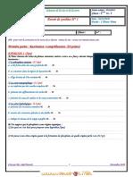 Devoir Corrigé de Synthèse N°1 - SVT - 2ème Sciences (2009-2010)  Elève lina   f