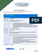 Agenda Foro Internacional sobre Equidad e Inclusión - UNESCO