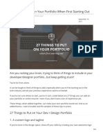 Things to Put on Your Portfolio When First Starting Out