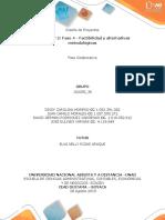 Unidad 1y2 Fase 4-Factibilidad y Alternativas Metodologicas Trabajo Final Grupo 102058_36