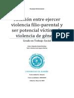 Relacion entre violencia Filio-parental con ser victima de género. Alejandro Rueda.docx
