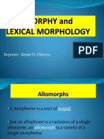 Allomorphy And