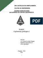 Modulo de Enfermeria Quirurgica I UCSM 2019
