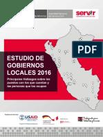 Estudio de Gobiernos Locales 2016 SERVIR
