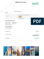 Dubai Package - 6 Nights and 7 Days - TripFactory