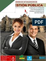 Programa en Gestion Publica.