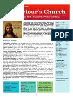 st saviours newsletter - 24 nov 2019 - christ the king