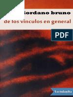 De Los Vinculos en General - Giordano Bruno