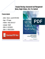 Medical and surgical nursing assessment