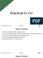 Practical C++17 - Jason Turner - CppCon 2017