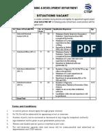 Advt for PDD P 3 1