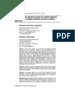 Target market selection based on market segment evaluation