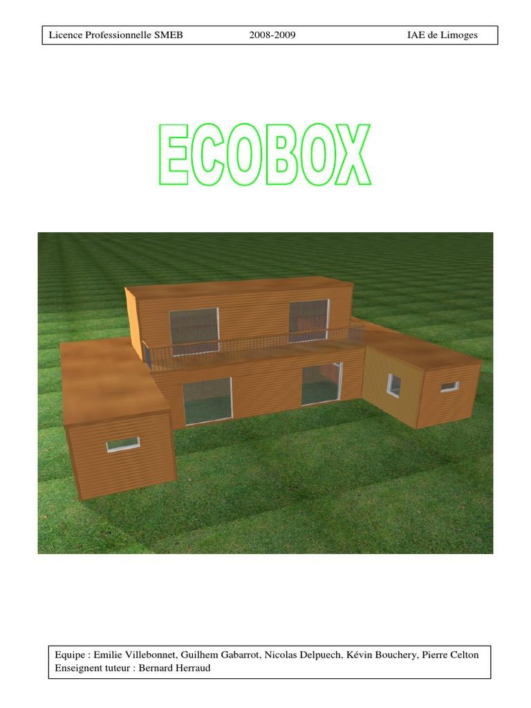 Gouny Tmb Ussel 19200 3- projet ecobox | fonds de roulement | développement durable