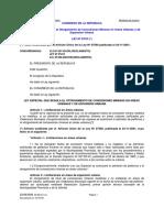 Ley 27015 -Ley Que Regula El Otorgamiento de Concesiones Mineras en Áreas Urbanas y de Expansión Urbana