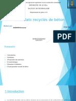 Granula Recyclés de Béton