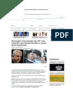 Governador Do DF Veta Estatuto Que Limita Família a Casais Heterossexuais