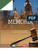 Memoria de las IV Jornadas de Derecho Tributario