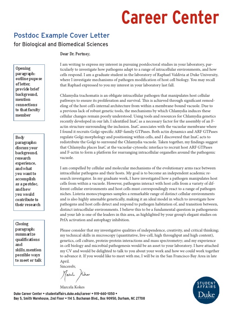 Postdoc Cover Letter Acc Vacuole Actin Free 30 Day Trial