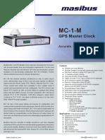 Masibus MC 1 M R0F 0814_GPS Master Clock