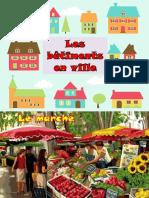 Clădirile din oraș în limba franceză