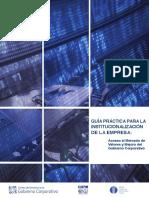 GUÍA PRÁCTICA PARA LA INSTITUCIONALIZACIÓN DE LA EMPRESA