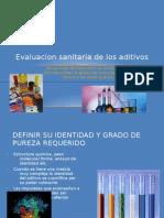 Evaluacion Sanitaria de Los Aditivos