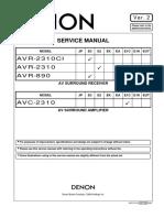 Hfe Denon Avr-890 2310 2310ci Avc-2310 Service En