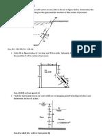 Fluid Mechanic sheet ch3