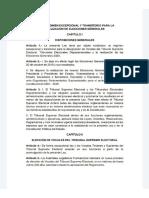 """Proyecto de Ley de """"Régimen Excepcional y Transitorio para la realización de Elecciones Generales"""""""