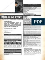 Chain of Command Japan Island Defence List