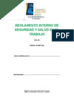 MODELO DE REGLAMENTO DE TRABAJO