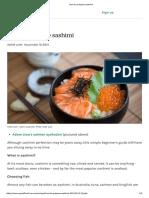 How to Prepare Sashimi