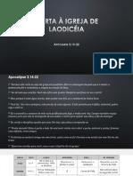 Presentation - Carta a Igreja de Laodicea - By John Santos