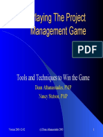 Playing the Project management Game
