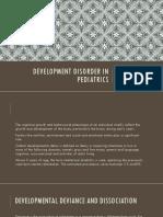 Development Disorder in Pediatrics