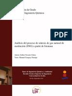 TFG.Análisis del proceso de sÃ_ntesis de gas natural de sustitución (SNG) a partir de biomasa.