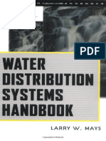Water Distribution System Handbook - L Mays (McGraw-Hill Professional) - 1999 [0071342133]