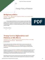 Foreign Policy of Pakistan _ Zubeida Mustafa