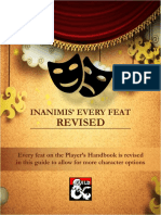 Inanimis' Every Feat Revised